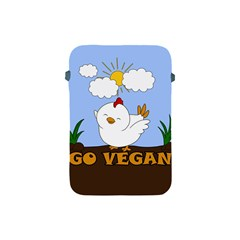Go Vegan - Cute Chick  Apple Ipad Mini Protective Soft Cases by Valentinaart