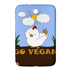 Go Vegan   Cute Chick  Samsung Galaxy Note 8 0 N5100 Hardshell Case  by Valentinaart