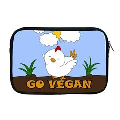 Go Vegan   Cute Chick  Apple Macbook Pro 17  Zipper Case