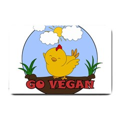 Go Vegan   Cute Chick  Small Doormat
