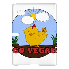 Go Vegan   Cute Chick  Samsung Galaxy Tab S (10 5 ) Hardshell Case  by Valentinaart