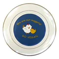 Go Vegan   Cute Chick  Porcelain Plates by Valentinaart