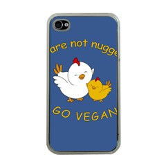 Go Vegan   Cute Chick  Apple Iphone 4 Case (clear) by Valentinaart