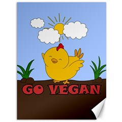 Go Vegan   Cute Chick  Canvas 36  X 48   by Valentinaart