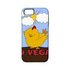 Go Vegan   Cute Chick  Apple Iphone 5 Classic Hardshell Case (pc+silicone) by Valentinaart