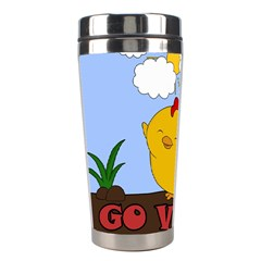Go Vegan   Cute Chick  Stainless Steel Travel Tumblers