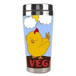 Go Vegan - Cute Chick  Stainless Steel Travel Tumblers Center