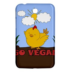 Go Vegan   Cute Chick  Samsung Galaxy Tab 3 (7 ) P3200 Hardshell Case  by Valentinaart