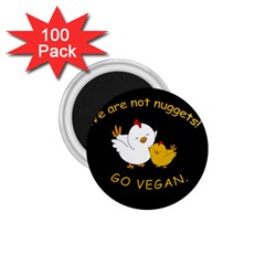 Go Vegan   Cute Chick  1 75  Magnets (100 Pack)