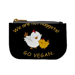 Go Vegan   Cute Chick  Mini Coin Purses by Valentinaart