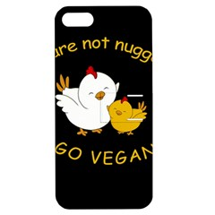 Go Vegan   Cute Chick  Apple Iphone 5 Hardshell Case With Stand