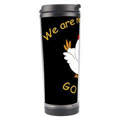 Go Vegan   Cute Chick  Travel Tumbler by Valentinaart
