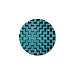 Woven1 Black Marble & Turquoise Glitter Golf Ball Marker (10 Pack) by trendistuff