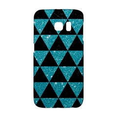 Triangle3 Black Marble & Turquoise Glitter Galaxy S6 Edge by trendistuff
