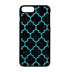Tile1 Black Marble & Turquoise Glitter (r) Apple Iphone 8 Plus Seamless Case (black) by trendistuff