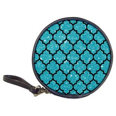 Tile1 Black Marble & Turquoise Glitter Classic 20 Cd Wallets by trendistuff
