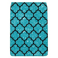 Tile1 Black Marble & Turquoise Glitter Flap Covers (l)  by trendistuff