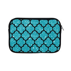 Tile1 Black Marble & Turquoise Glitter Apple Ipad Mini Zipper Cases by trendistuff
