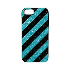 Stripes3 Black Marble & Turquoise Glitter (r) Apple Iphone 5 Classic Hardshell Case (pc+silicone) by trendistuff