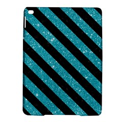 Stripes3 Black Marble & Turquoise Glitter Ipad Air 2 Hardshell Cases by trendistuff