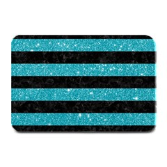 Stripes2black Marble & Turquoise Glitter Plate Mats by trendistuff