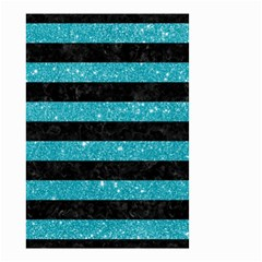 Stripes2black Marble & Turquoise Glitter Small Garden Flag (two Sides) by trendistuff