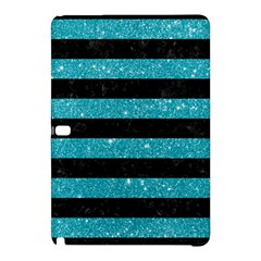 Stripes2black Marble & Turquoise Glitter Samsung Galaxy Tab Pro 12 2 Hardshell Case by trendistuff