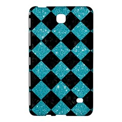 Square2 Black Marble & Turquoise Glitter Samsung Galaxy Tab 4 (7 ) Hardshell Case  by trendistuff