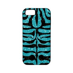 Skin2 Black Marble & Turquoise Glitter Apple Iphone 5 Classic Hardshell Case (pc+silicone) by trendistuff