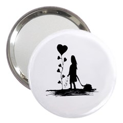 Sowing Love Concept Illustration Small 3  Handbag Mirrors by dflcprints