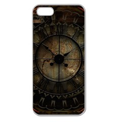 Steampunk, Wonderful Noble Steampunnk Design Apple Seamless Iphone 5 Case (clear) by FantasyWorld7