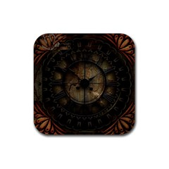 Steampunk, Wonderful Noble Steampunnk Design Rubber Square Coaster (4 Pack)  by FantasyWorld7