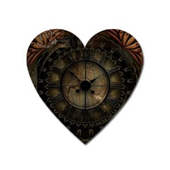 Steampunk, Wonderful Noble Steampunnk Design Heart Magnet by FantasyWorld7