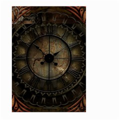 Steampunk, Wonderful Noble Steampunnk Design Large Garden Flag (two Sides) by FantasyWorld7