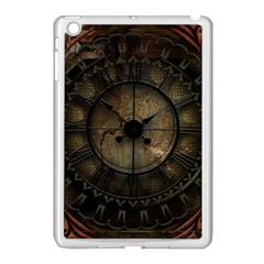 Steampunk, Wonderful Noble Steampunnk Design Apple Ipad Mini Case (white) by FantasyWorld7