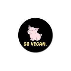Go Vegan   Cute Pig Golf Ball Marker (4 Pack) by Valentinaart