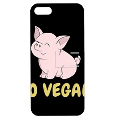 Go Vegan   Cute Pig Apple Iphone 5 Hardshell Case With Stand by Valentinaart