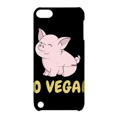 Go Vegan   Cute Pig Apple Ipod Touch 5 Hardshell Case With Stand