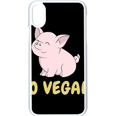Go Vegan   Cute Pig Apple Iphone X Seamless Case (white) by Valentinaart