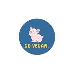 Go Vegan - Cute Pig Golf Ball Marker (4 Pack) by Valentinaart