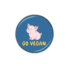 Go Vegan - Cute Pig Hat Clip Ball Marker (4 Pack) by Valentinaart