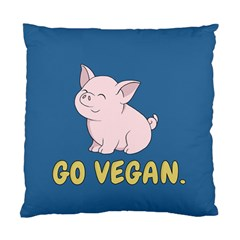 Go Vegan   Cute Pig Standard Cushion Case (one Side) by Valentinaart