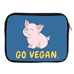 Go Vegan   Cute Pig Apple Ipad 2/3/4 Zipper Cases by Valentinaart