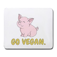 Go Vegan   Cute Pig Large Mousepads