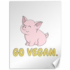 Go Vegan   Cute Pig Canvas 36  X 48