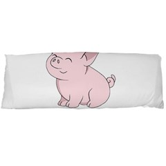 Go Vegan   Cute Pig Body Pillow Case (dakimakura) by Valentinaart