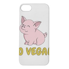 Go Vegan   Cute Pig Apple Iphone 5s/ Se Hardshell Case by Valentinaart