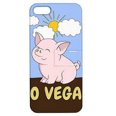 Go Vegan   Cute Pig Apple Iphone 5 Hardshell Case With Stand