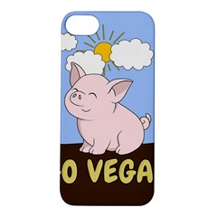 Go Vegan   Cute Pig Apple Iphone 5s/ Se Hardshell Case