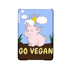 Go Vegan   Cute Pig Ipad Mini 2 Hardshell Cases by Valentinaart